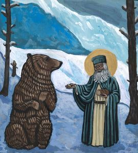 St. Serephim and Bear