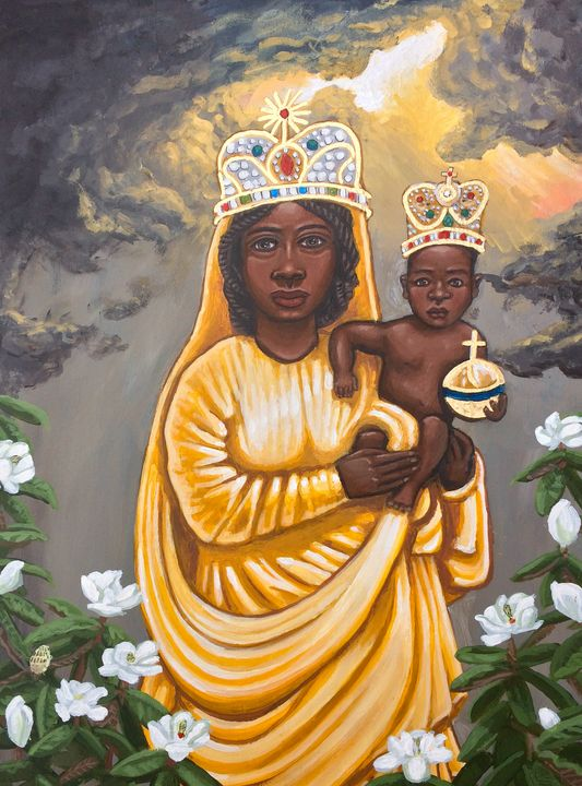Our Lady Of Prompt Succor - Kelly Latimore Icons