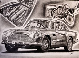 Aston Martin DB5 GraphiteDVs wing