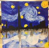Abstract Starry night