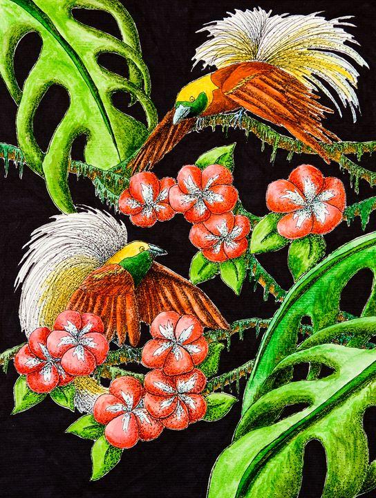 Birds of Paradise - JK Art Life