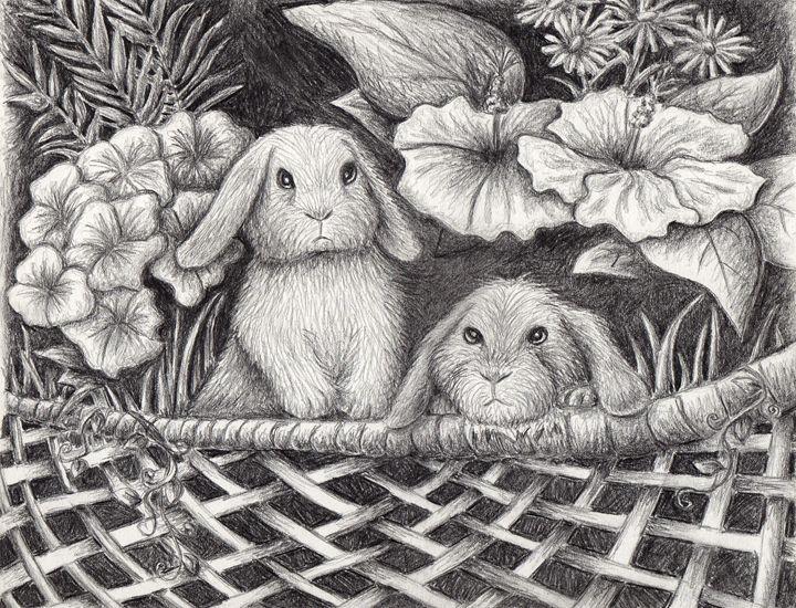 Bunny Rabbit Garden - JK Art Life