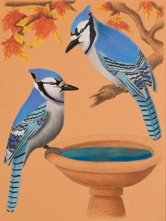 Blue Jays In Fall - JK Art Life