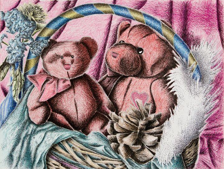 Teddy Bear Still Life - JK Art Life