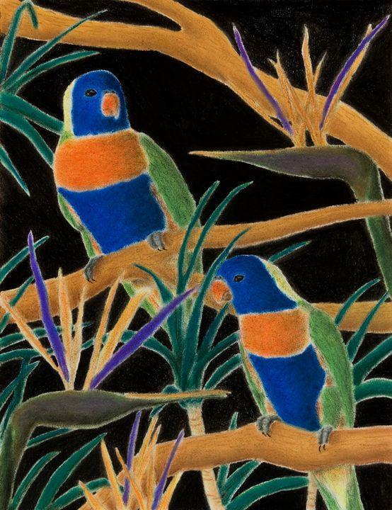 Rainbow Lorry with Birds of Paridice - JK Art Life