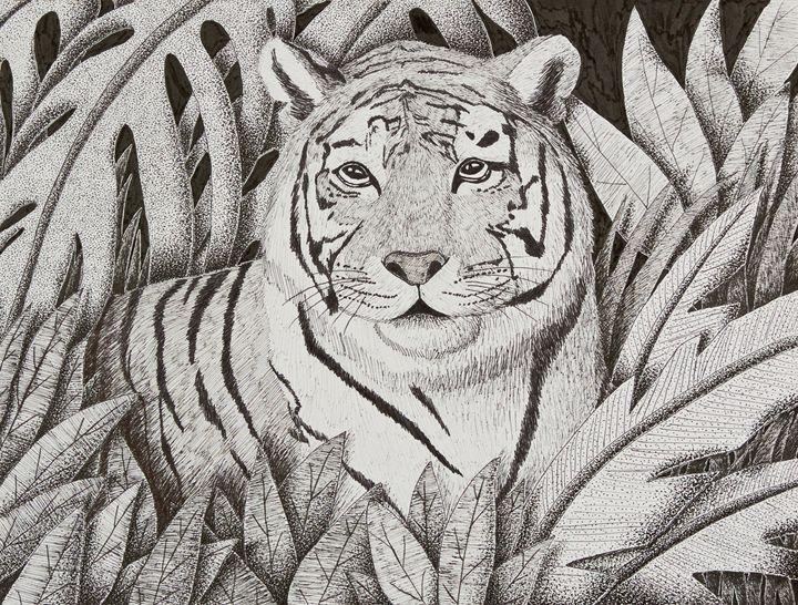 Tiger in Jungle - JK Art Life