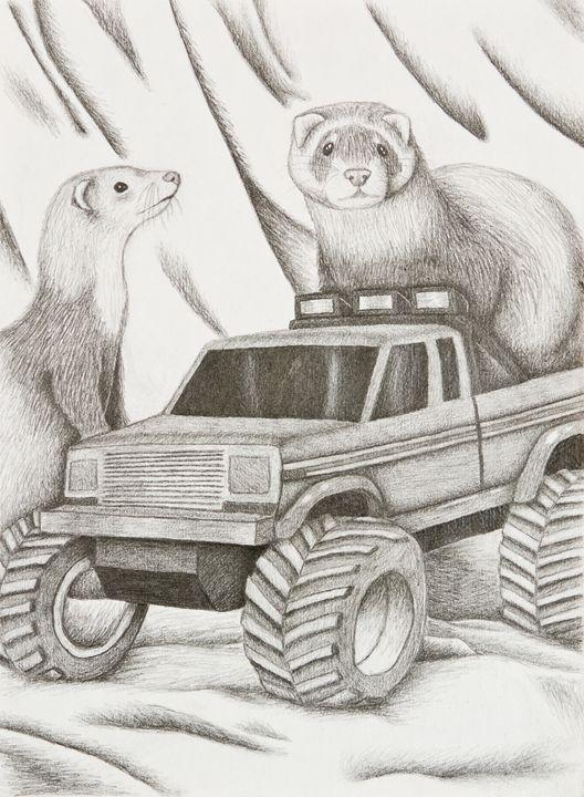 Ferret Still Life - JK Art Life