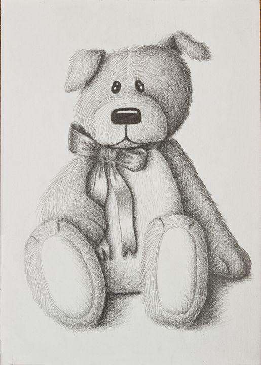Stuffed Toy Dog - JK Art Life