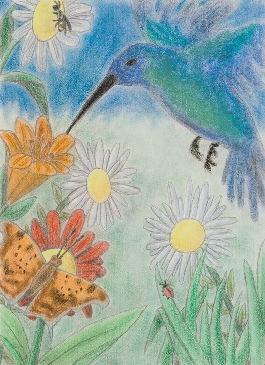 Hummingbird Garden - JK Art Life