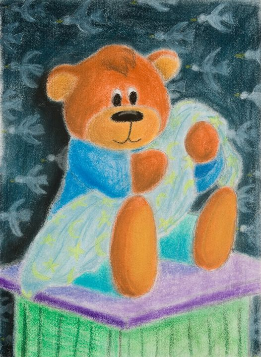 Baby Bear with Blanket - JK Art Life