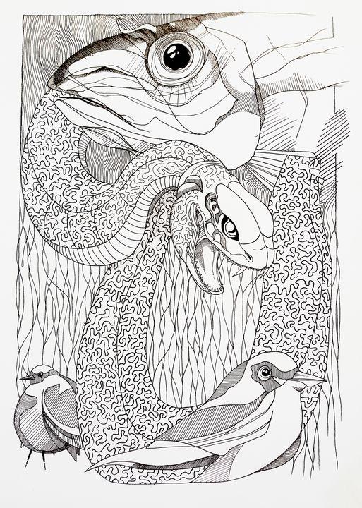 Snaking around - Godpipo - art & drawings