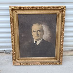 Vintage Harry Truman Oil on Board