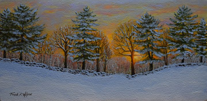 Winter Sunset - Frank Wilson