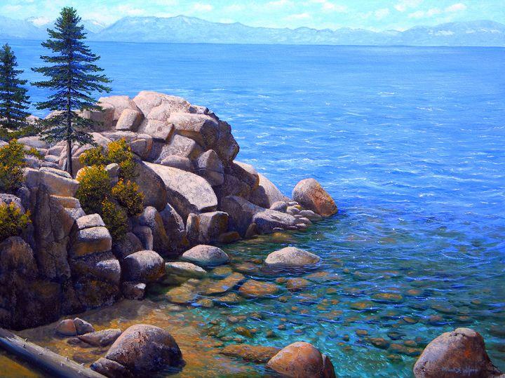 Rocks And Water Lake Tahoe - Frank Wilson