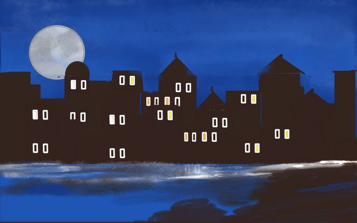 San Francisco at Night - Manoz Art