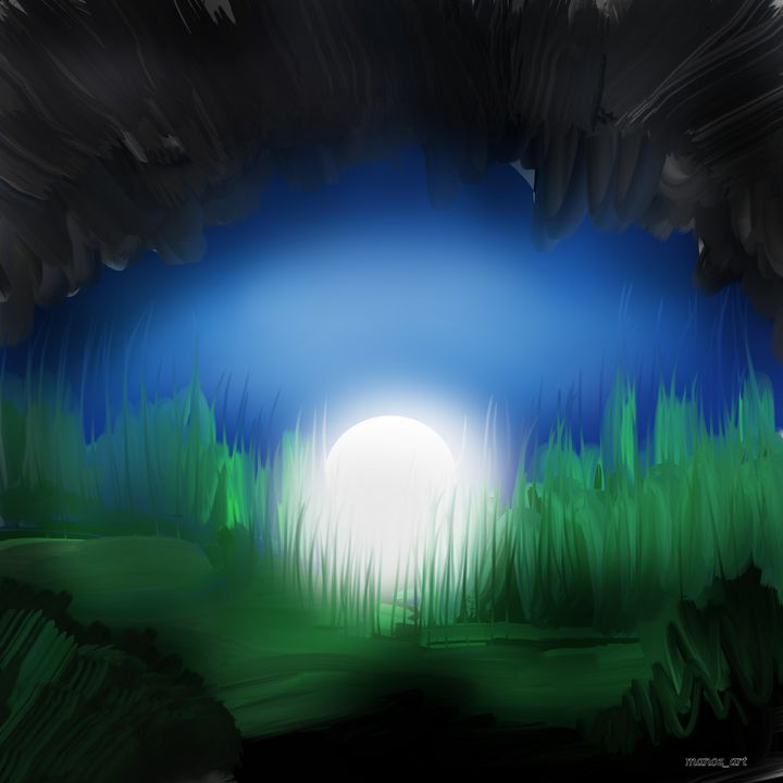 A view from inside the cave - Manoz Art