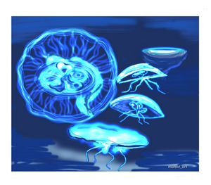 Beautiful & mesmerizing - Jellyfish - Manoz Art