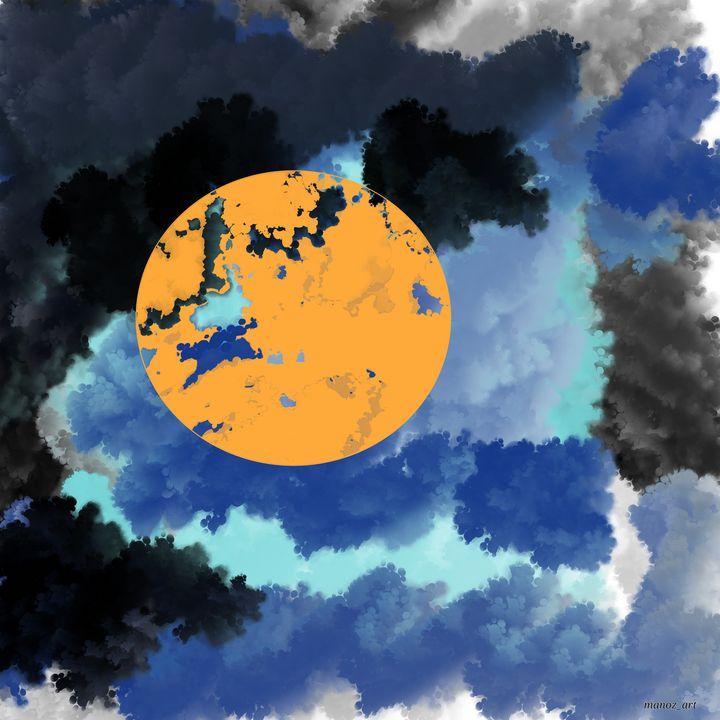The Sun in Distress - Manoz Art