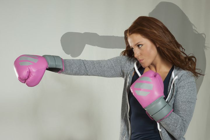 Ileana shadow boxing - DLF Photo