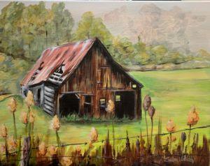 """Old Barn"" - The Benevolent Bear Art Studio"