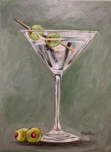 """Martini And Olives"" - The Benevolent Bear Art Studio"