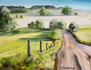"""Dirt Road At Sunrise"" - The Benevolent Bear Art Studio"