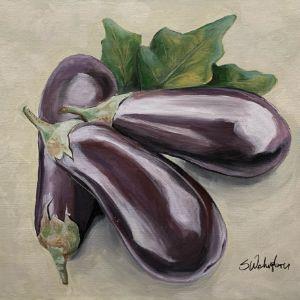 """Eggplant Study"" - The Benevolent Bear Art Studio"