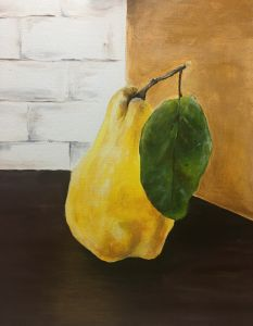 """Yellow Pear"" - The Benevolent Bear Art Studio"