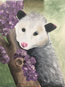 """Possum In Flowering Tree"" - The Benevolent Bear Art Studio"