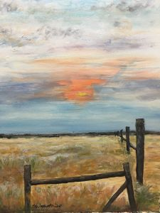 """Field At Sunrise"" - The Benevolent Bear Art Studio"