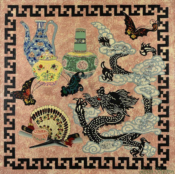 """""""Chinese Harmony"""" - Linda D. Shelton's Paint Box"""