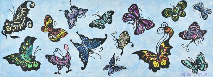 """Butterflies"" - Linda D. Shelton's Paint Box"