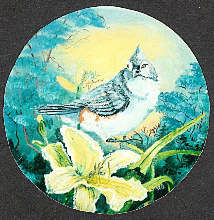 """Bird & Daylilly"" - Linda D. Shelton's Paint Box"