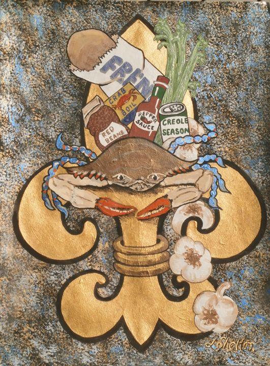 """""""Cajun Fleur de Lis"""" - Linda D. Shelton's Paint Box"""
