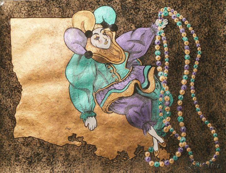"""""""Louisiana Mardi Gras"""" - Linda D. Shelton's Paint Box"""