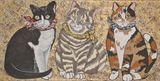 Bandanna Cat Trio