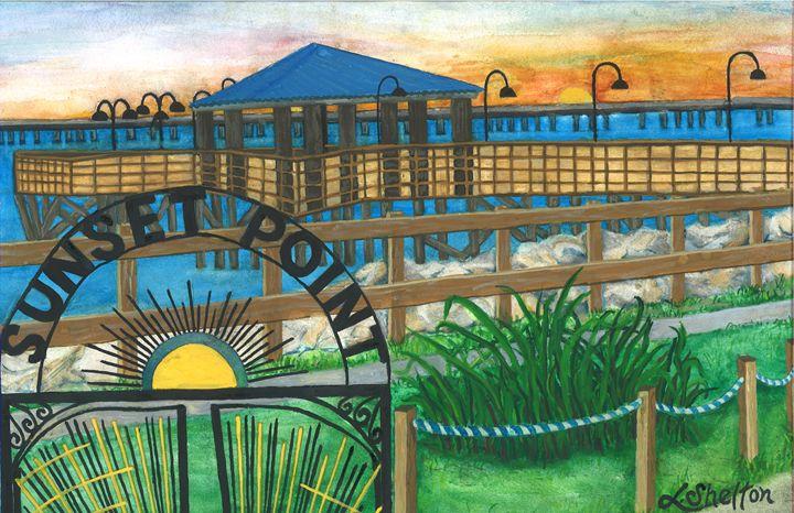 """""""Sunset Point"""" - Mandeville, LA"""" - Linda D. Shelton's Paint Box"""