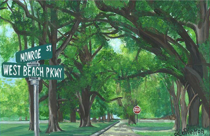 """""""West Beach Pkwy."""" - Linda D. Shelton's Paint Box"""