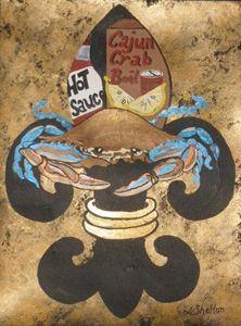 """*""""Blue Crab Fleur de Lis"""""""