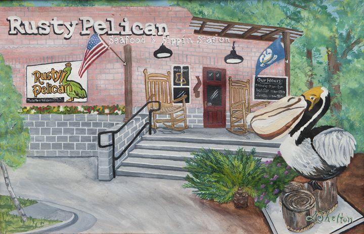 """""""Rusty Pelican"""" - Mandeville, LA. - Linda D. Shelton's Paint Box"""
