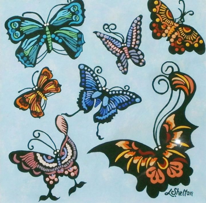 Butterflies - #2 - Linda D. Shelton's Paint Box