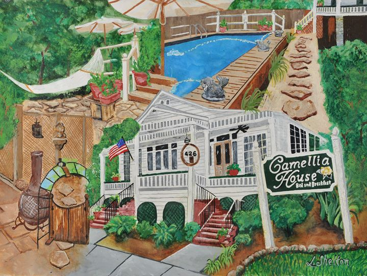 """The Camellia House Bed & Breakfast"" - Linda D. Shelton's Paint Box"