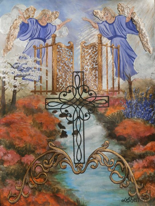 """""""Angels in the Mirror"""" - Linda D. Shelton's Paint Box"""