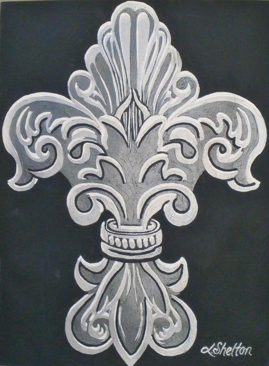 """""""Ornate Fleur de Lis"""" - Linda D. Shelton's Paint Box"""