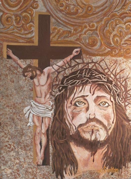 "*""Jesus Crucified"" - Linda D. Shelton's Paint Box"