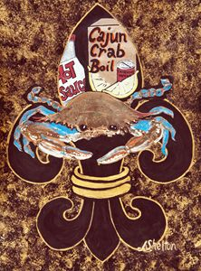 """""""Blue Crab Fleur de Lis"""""""