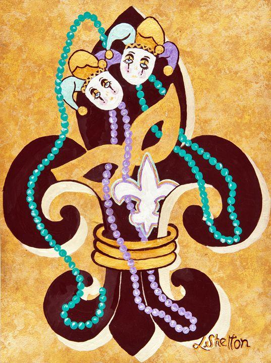 """*""""Mardi Gras Fleur de Lis - #2"""" - Linda D. Shelton's Paint Box"""