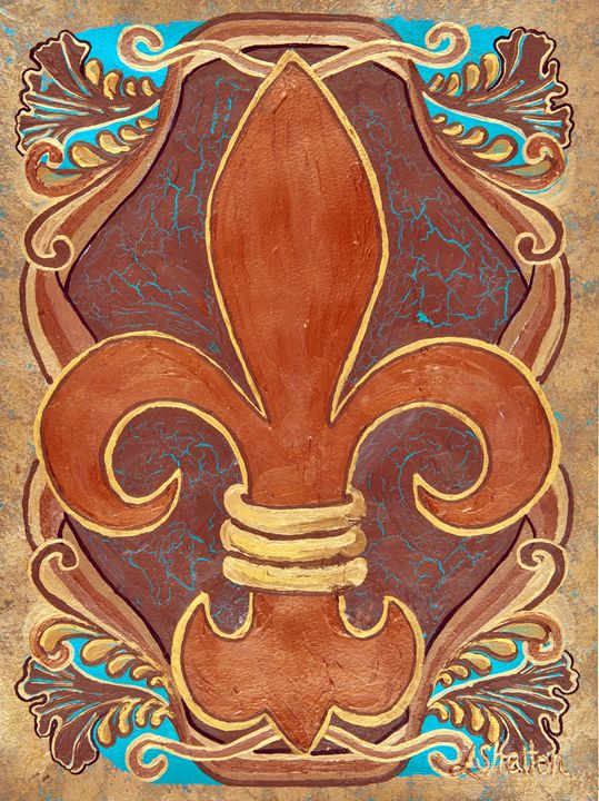 #1 Single Fleur de Lis - Linda D. Shelton's Paint Box