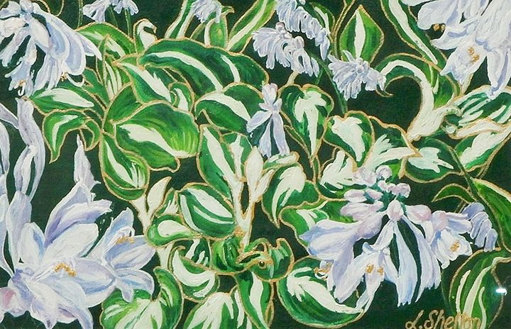 """Hostas"" - Linda D. Shelton's Paint Box"
