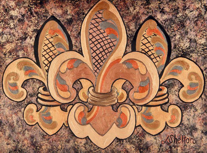 *#3 Multi-Fleur de Lis - Linda D. Shelton's Paint Box